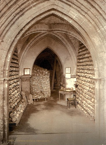 [The church crypt, Hythe, England]