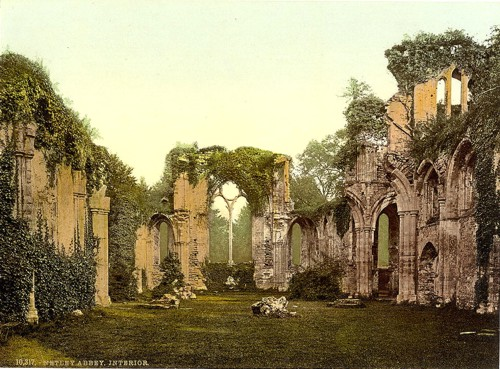 [Interior, Netley Abbey, England]