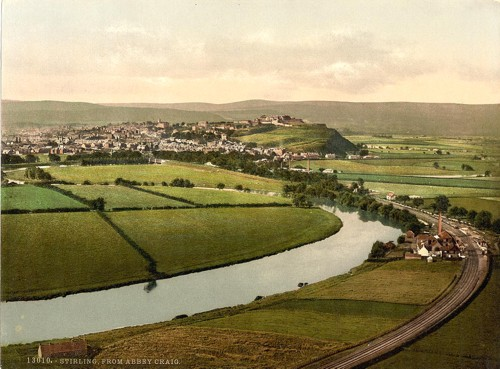 [The town of Stirling, from Abbey Craig, Scotland]