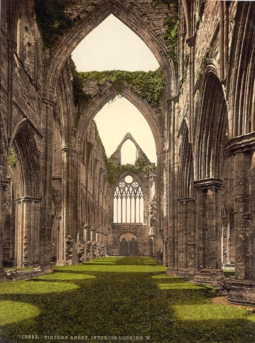 [Abbey interior, looking W., Tintern, England]