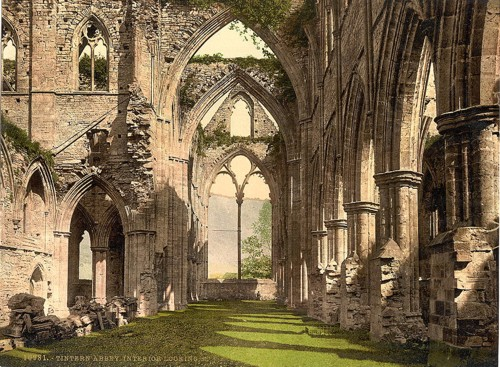 [Abbey interior, looking E., Tintern, England]