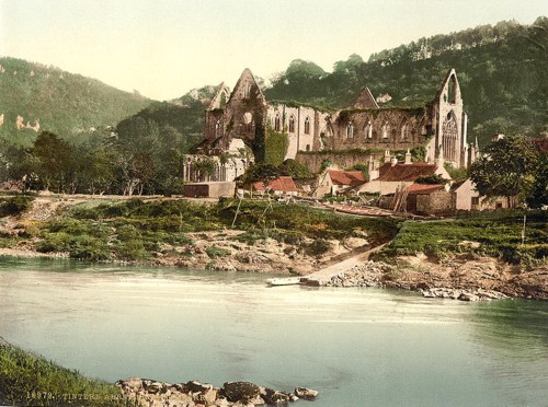 [Abbey from the ferry, Tintern, England]