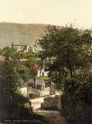 [Abbey and village, Tintern, England]